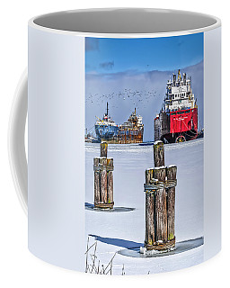 Owen Sound Winter Harbour Study #4 Coffee Mug