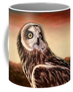 Owl At Sunset Coffee Mug
