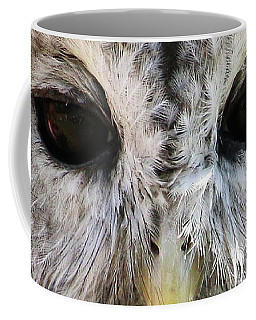 Coffee Mug featuring the photograph Owl Eyes by William Selander