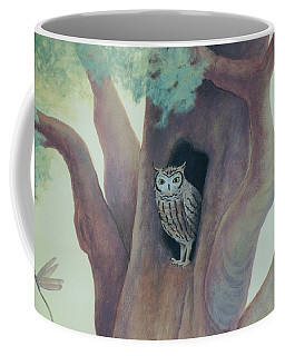 Owl In Tree Coffee Mug