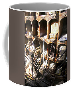Coffee Mug featuring the photograph Owl Post Office Hogsmeade by Juergen Weiss