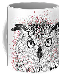 Owl Sketch Pen Portrait Coffee Mug