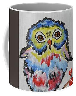 Owl Will Alway Love You - Whimsical Colorful Original Painting #646 Coffee Mug by Ella Kaye Dickey