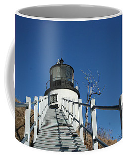 Owls Head Lighthouse Winter Coffee Mug