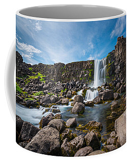 Oxararfoss Waterfall  Coffee Mug