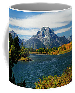 Oxbow Bend In Autumn Borderless Coffee Mug
