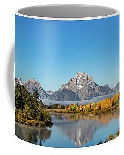 Oxbow Bend Reflecting Coffee Mug by Mary Hone