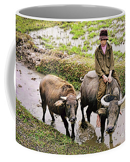 Oxen Day Off.cambodia Coffee Mug by Jennie Breeze