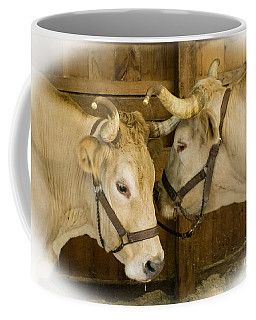 Oxen Team Coffee Mug by Kevin Fortier