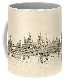 Oxford England Skyline Sheet Music Coffee Mug
