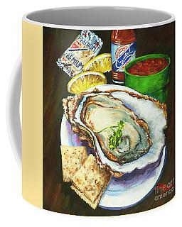 Oyster And Crystal Coffee Mug