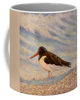 Coffee Mug featuring the painting Oyster Catcher by Joe Bergholm