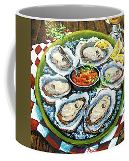 Oysters On The Half Shell Coffee Mug