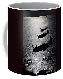 P-51 Cavalier Mustang With Supermarine Coffee Mug