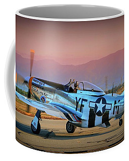 P-51d Mustang 'dakota Kid II. The Long Island Kid' And Casey Odegaard Coffee Mug