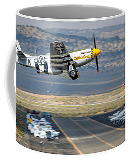 P51 Mustang Little Horse Gear Coming Up Friday At Reno Air Races 16x9 Aspect Signature Edition Coffee Mug