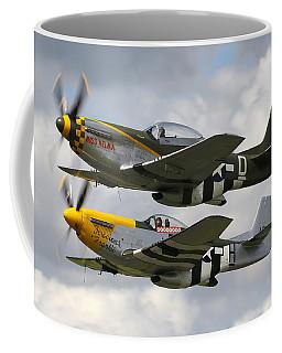 P51 Mustangs Coffee Mug by Ken Brannen