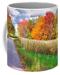 Pa Country Roads - Autumn Colorfest No. 1 - Harvest Time - Laurel Highlands, Somerset County Coffee Mug by Michael Mazaika