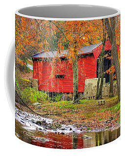 Pa Country Roads- Bartrams / Goshen Covered Bridge Over Crum Creek No.11 Chester / Delaware Counties Coffee Mug