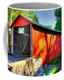 Pa Country Roads - Witherspoon Covered Bridge Over Licking Creek No. 4b - Franklin County Coffee Mug