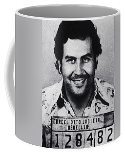 Pablo Escobar Mug Shot 1991 Vertical Coffee Mug by Tony Rubino