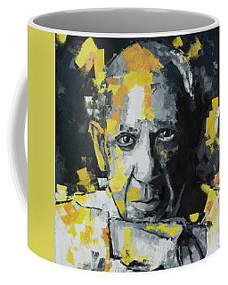 Coffee Mug featuring the painting Pablo Picasso Portrait by Richard Day