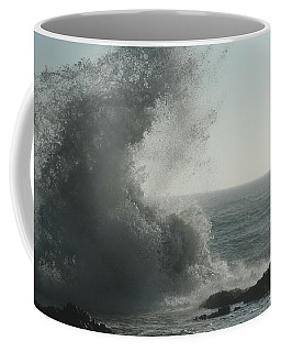 Pacific Crash Coffee Mug by Laddie Halupa
