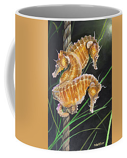 Pacific Lined Seahorse Trio Coffee Mug by Phyllis Beiser