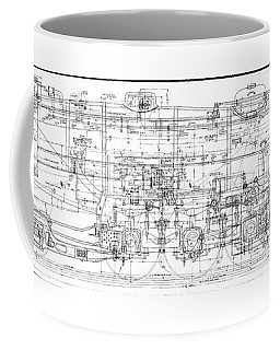 Pacific Locomotive Diagram Coffee Mug