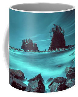 Coffee Mug featuring the photograph Pacific Moody Sea Stacks by William Lee