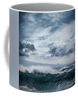 Coffee Mug featuring the photograph He Inoa Wehi No Hookipa  Pacific Ocean Stormy Sea by Sharon Mau