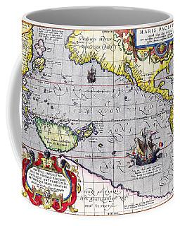 Pacific Ocean Vintage Map Coffee Mug