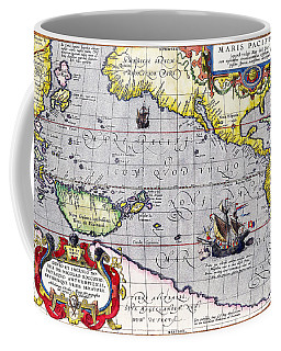 Pacific Ocean Vintage Map Coffee Mug