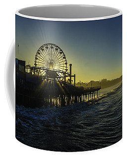 Coffee Mug featuring the photograph Pacific Park Ferris Wheel by Brad Wenskoski