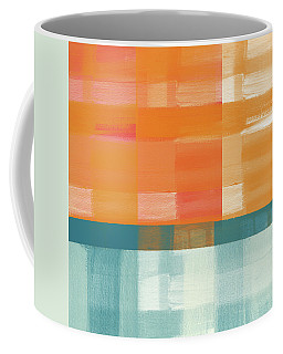 Pacific Sunset 2- Abstract Art By Linda Woods Coffee Mug
