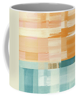 Pacific Sunset- Abstract Art By Linda Woods Coffee Mug