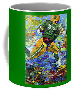Paeddie Lacy Running For Td  Coffee Mug by Walter Fahmy