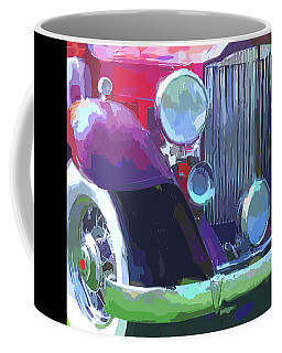 Coffee Mug featuring the digital art Packard Close Up Pop by David King