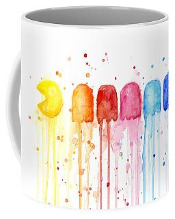 Pacman Watercolor Rainbow Coffee Mug