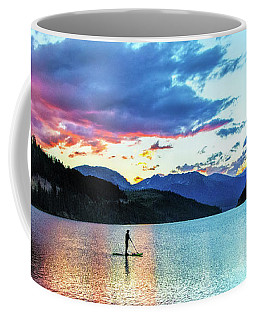 Paddle Boarder On Lake Dillon Coffee Mug