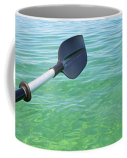Coffee Mug featuring the photograph Paddling Grand Traverse Bay by SimplyCMB