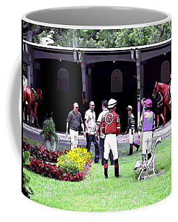 Coffee Mug featuring the digital art Paddock Painting by  Newwwman