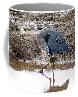Coffee Mug featuring the photograph Padilla Bay Heron by Karen Molenaar Terrell