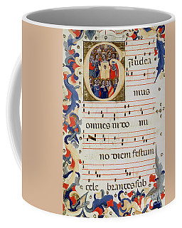 Page Of Musical Notation With A Historiated Letter G Coffee Mug