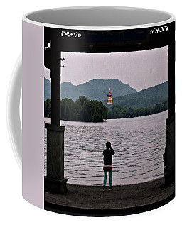 Pagoda At Dusk Coffee Mug