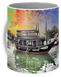 Paint Digital Boat Hoi An Coffee Mug