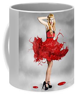 Paint Dress Pin-up Coffee Mug
