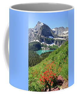 Paintbrush Above Grinnell Lake Coffee Mug
