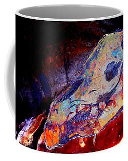 Painted Cave Skull Coffee Mug