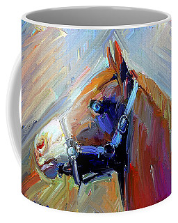 Painted Color Horse Coffee Mug